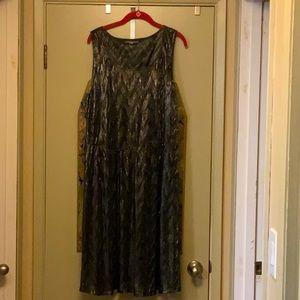 Metallic black/silver dress